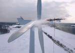 Nuevos drones modificados para limpiar las palas de los aerogeneradores.