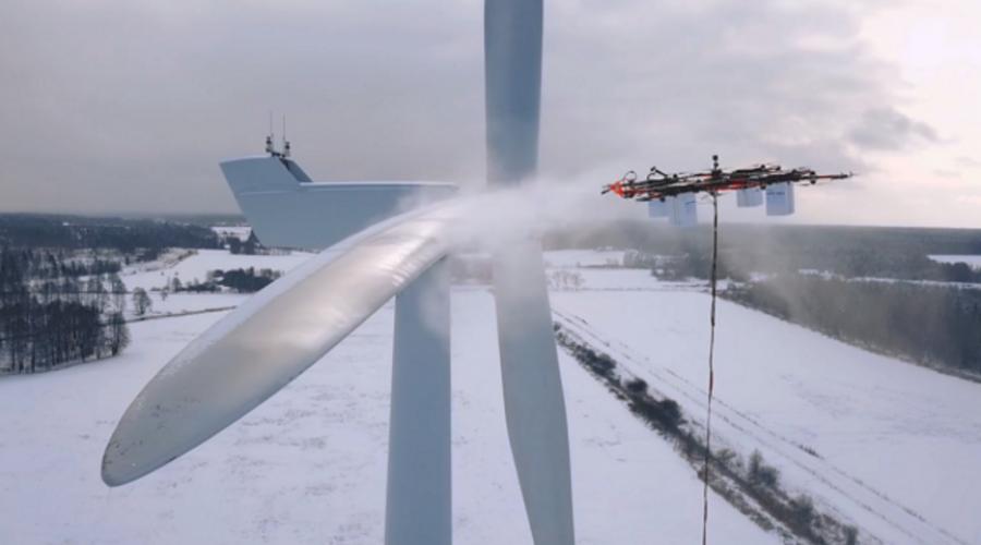 Nuevos drones para limpiar aerogeneradores.