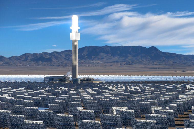 Paneles solares que actúan como girasoles