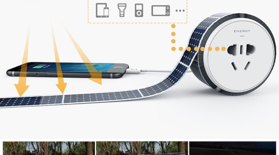 Cinta solar adhesiva y reutilizable