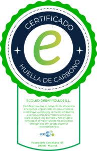 Sello calidad huella de carbono de E4e Soluciones