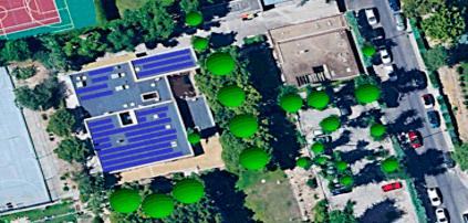 Planta fotovoltaica Colegio Mayor César Carlos