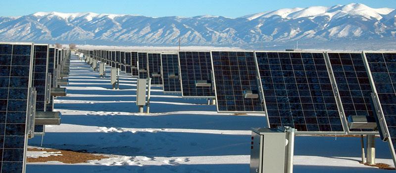 Placas solares en invierno