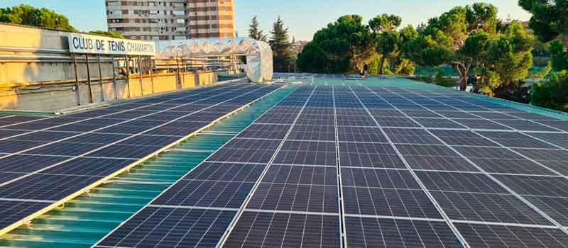 Nueva instalación de de autoconsumo en el Club de Tenis Chamartín, en Madrid